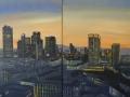12-Frankfurt_Skyline_Abendrot, beide mitte